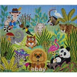 Needlepoint HandPainted JP Needlepoint Went to a Garden Party 13x15