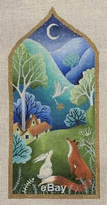 Needlepoint Handpainted Brenda Stofft Looking for Home 12.5