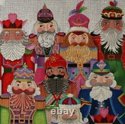 Needlepoint Handpainted Christmas Dede Jolly Nutcracker Collection Pillow 14x14