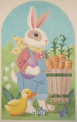 Needlepoint Handpainted EASTER Bunny JUNIOR Labors of Love 8x12