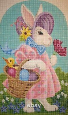 Needlepoint Handpainted EASTER Bunny PENELOPE Labors of Love 11x18