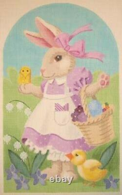 Needlepoint Handpainted EASTER Bunny RUTHIE Labors of Love 8x12