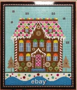 Needlepoint Handpainted Kelly Clark Christmas Advent Gingerbread House