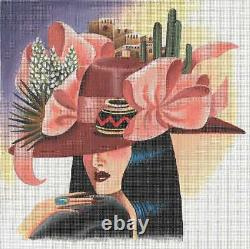 Needlepoint Handpainted Leigh Designs Desert Song with Stitch Guide 10x10