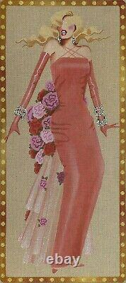 Needlepoint Handpainted Leigh Designs Lorelei with Stitch Guide 8x18