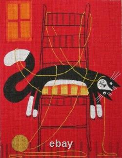 Needlepoint Handpainted Maggie Co Enough 9x11