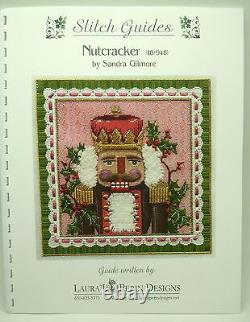 Needlepoint Handpainted Sandra Gilmore Christmas Nutcracker with Stitch Guide