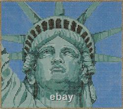 Needlepoint Handpainted Sandra Gilmore NEW YORK Liberty with Stitch Guide