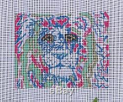 Needlepoint Handpainted Thorn Alexander LION Lily 11x9