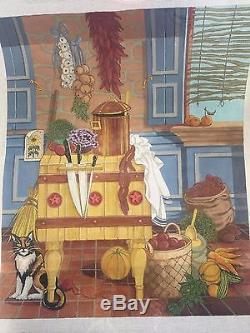 Needlepoint canvas Peter Ashe French Kitchen II HAND PAINTED BY ASHE