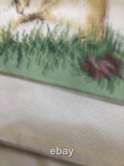 Once in a Blue Moon SANDRA GILMORE Handpainted NEEDLEPOINT 18ct MOPSY with Yarn