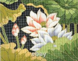 Oriental Lotus Blossoms handpainted Needlepoint Canvas BF Series, 18m by LEE