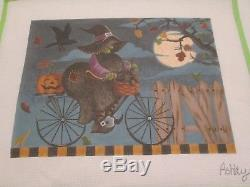 Out For A Ride-ashley-handpainted Needlepoint Canvas