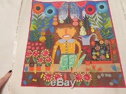 Planting Flowers By I-chris Roberts-antieau-handpainted Needlepoint Canvas
