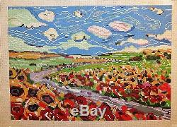 Patti Mann / Mike Savage Country Fields 13 Count Handpainted Needlepoint Canvas