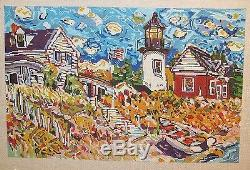 Patti Mann / Mike Savage Country Home Lighthouse Handpainted Needlepoint Canvas