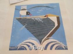 Pelican Pantry-charley Harper-handpainted Needlepoint Canvas-stitch Guide