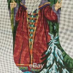 Peter Ashe Father Frost Large Christmas Stocking Needlepoint Canvas Hand Painted
