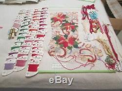 Pointsettias Stocking-strictly Christmas-handpainted Needlepoint Canvas-threads