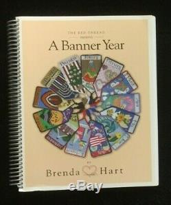 Rebecca Wood 12 Hand-painted Needlepoint Canvases A Banner Year/Book/$2364 RET