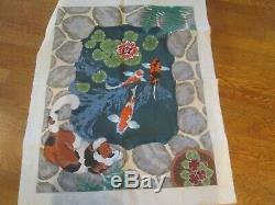 Rug Flowers, Koi, Stones-kate Molineux-handpainted Needlepoint Canvas-threads