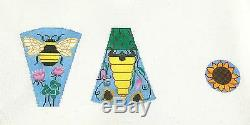SP. ORDER Bumble Bee Scissor Case & Fob handpainted Needlepoint Brenda Stofft