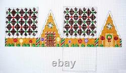 SP. ORDER CHOCOLATE TRELLIS Gingerbread House 3-D Needlepoint Ornament S. Roberts