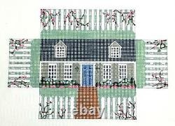 SP. ORDER Cape Cod House Brick Cover Door Stop HP Needlepoint Canvas S. Roberts