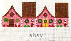 SP. ORDER Chocolate & Cherries Gingerbread House HP Needlepoint Canvas Roberts
