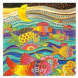 SP. ORDER Fanciful Fish handpainted LG. Needlepoint Canvas by Laurel Burch