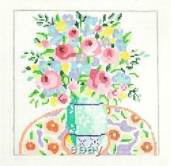 SP. ORDER Matisse's Table #2 Floral 8 Sq. 13m HP Needlepoint Canvas Jean Smith
