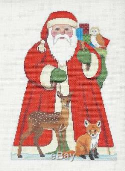 SP. ORDER Tree Topper Santa & Forest Friends HP Needlepoint Canvas S. Roberts