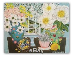 SPRING BASKET HANDPAINTED NEEDLEPOINT CANVAS By Melissa Shirley