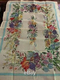 STUNNING Hand Painted Floral Needlepoint Rug Canvas SAN MATEO Large 59x40