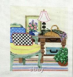 Sandra Gilmore MacKenzie with stitch guide Handpainted HP Needlepoint Canvas PP