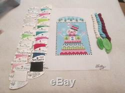 Snowman Standup-shelly Tribbey-handpainted Needlepoint Canvas-threads
