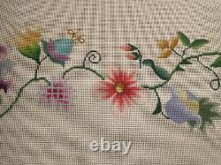Stunning Hand Painted Needlepoint Canvas Floral