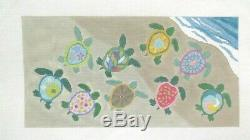 Susan Roberts Painted Turtles First Swim Handpainted Needlepoint Canvas R