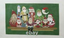 Susan Roberts Santa Collection on a Shelf Handpainted HP Needlepoint Canvas