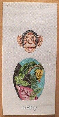 TS Designs 3-D Colorful Monkey Skinny Legs Handpainted Needlepoint Canvas
