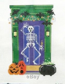 The Meredith Collection Halloween Holiday Door Handpainted Needlepoint Canvas