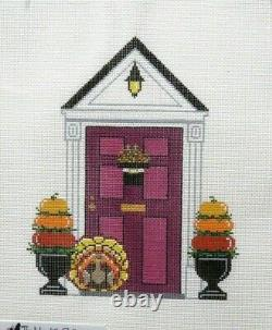 The Meredith Collection Thanksgiving Holiday Door Handpainted Needlepoint Canvas