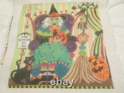 The Witch Is In-shelly Tribbey-handpainted Needlepoint Canvas-stitch Guide