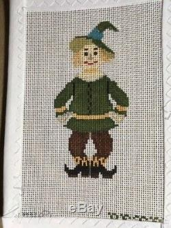 WIZARD OF OZ by Petei COMPLETE SET Lot of 15 Handpainted Needlepoint Canvas