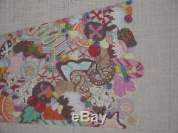 X Large Dede Handpainted Needlepoint Canvas Stocking Candy Land HP Np